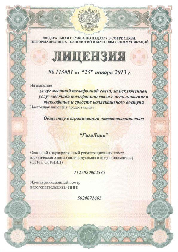 Лицензия по телефонии 115081_1